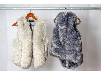 韩版仿狐狸毛短款背心马夹外套
