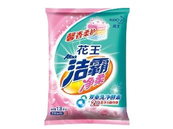 花王洁霸1.8KG洗衣粉净柔无磷