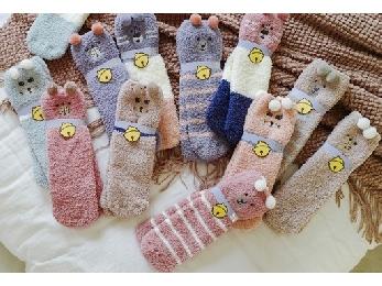 冬季加厚地板袜